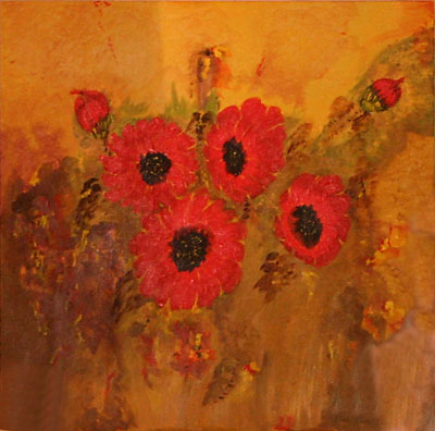 Summer Flowers, 2003. Oil on canvas by Elka Stapel.